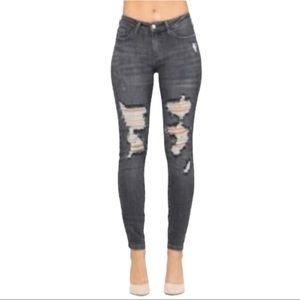 Judy Blue Stop Your Stressing Gray Wash Jeans